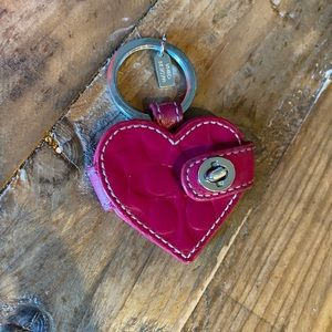 Coach heart picture frame keychain.